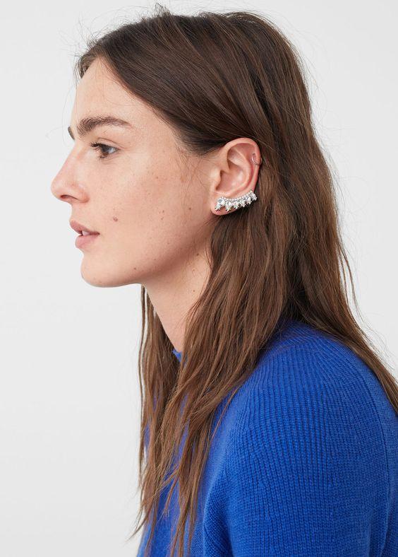 Boucles d'oreilles cristal à facettes | MANGO