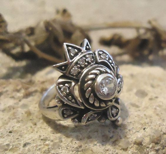 Silver and CZ Royality Ring - 308 on Etsy, $52.00