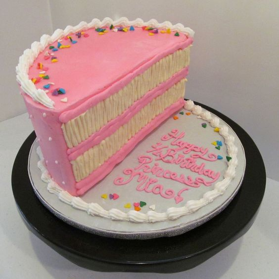 Half Birthday Cake! www.milkandhoneycakery.com