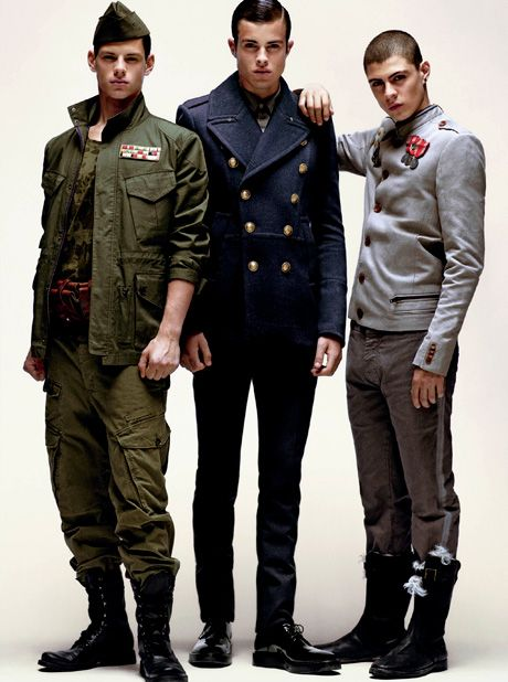 Image result for MILITARY CHIC  men dress photo