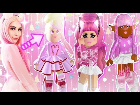Aesthetic Christmas Outfits Roblox Cute Xmas Outfits W Leah S Pink Christmas Collection In Royale High Youtube Xmas Outfits Pink Christmas Halloween Event