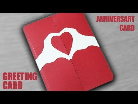 How To Make A Greeting Card For Anniversary Diy Anniversary Card Youtube Anniversary Card For Parents Anniversary Cards Handmade Diy Anniversary Cards