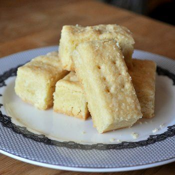 Scottish Shortbread. Grade: A-.  I couldn't get my dough to score before baking without crumbling the top, so I just cut it right out of the oven without a problem.  These are a bit crumbly, but very rich and delicious. Also, I used regular salted butter and omitted the 1/2 tsp of salt, and the taste is still great.