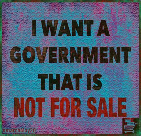 I want a government that is not for sale