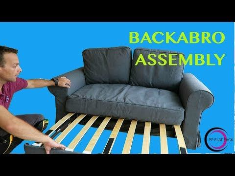 Ikea Two Seat Sofa Bed Assembly Backabro Youtube Sofa Bed Murphy Bed Sofa Sofa
