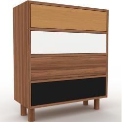 Kommode Nussbaum Design Lowboard Schubladen In Schwarz Hochwertige Materialien 77 X 91 X 35 C Kommode Nussbaum Design Lowboard Schubladen In Schwar 2020