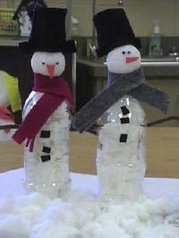 Water bottle Snowman - Re-pinned by @PediaStaff – Please Visit http://ht.ly/63sNt for all our pediatric therapy pins