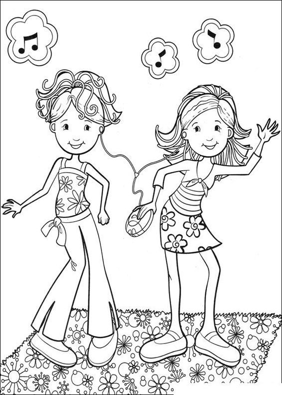 dancing girls coloring pages - photo#9