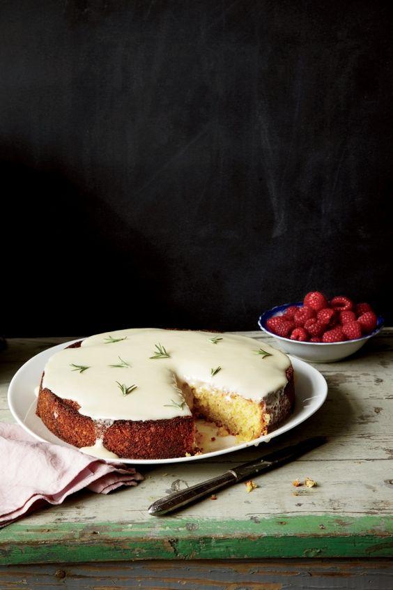 almond cake with lemon and creme fraiche glaze: Lemon Cake, Food Network/Trisha, Fraîche Glaze, Food Drink, Almond Cakes, Fraiche Glaze, Cream, Creme Fraiche