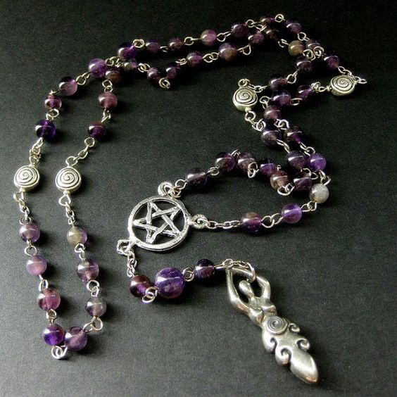 Pagan Necklace Spiral Dance Wiccan Amethyst by Gilliauna on Etsy, $100.00 OMG Me Want!!