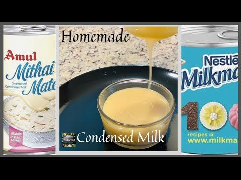 How To Make Condensed Milk At Home Milkmaid Only 3 Ingredients Homemade Milkmaid Youtube In 2020 Condensed Milk Recipes Milk Recipes Condensed Milk