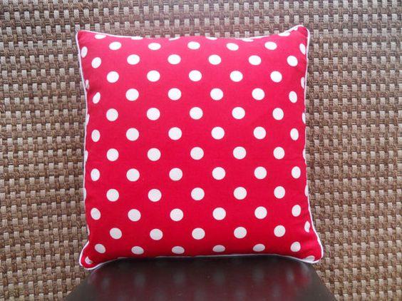 Decorative Red with White Polka Dot Handmade by SewFabulousSenior, $20.00