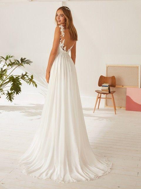 Gefunden Bei Happy Brautmoden Brautkleid Hochzeitskleid White One Tiefer Rucken Ruckenausschnitt Spitz Brautmode Neue Brautkleider Chiffon Hochzeitskleid