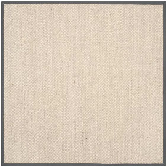 Jeremy Jute Sisal Marble Dark Grey Area Rug In 2020 Coastal Area Rugs Square Area Rugs Area Rugs