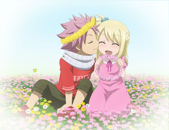 Natsu Dragneel and Lucy Heartfilia as kids. NaLu. Fairy ...