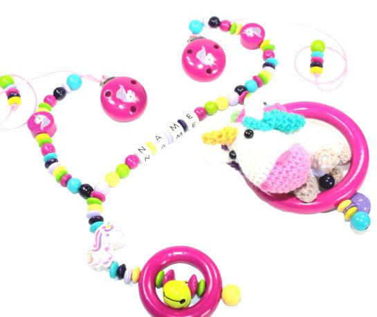 Kinderwagenanhänger// Kinderwagenkette Eule Stern Babyfüßchen Glöckchen Mädchen