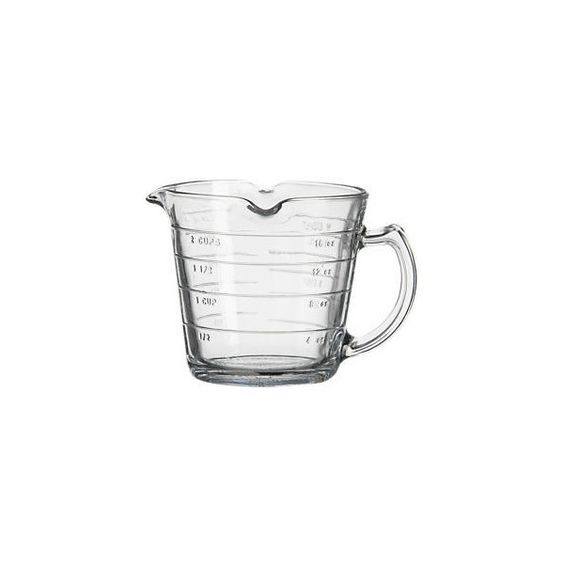 Anchor Hocking 16oz Triple Pour Measuring Cup found on Polyvore featuring polyvore, home, kitchen & dining, kitchen gadgets & tools, anchor hocking and anchor hocking measuring cup