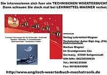 Bild: Leseprobe zu A-Z Woerterliste / Begriffe Technik (Technisches Woerterbuch Mechatronik
