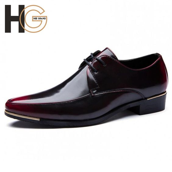 (Buy here: http://appdeal.ru/561 ) Spring Men's Bussiness Shoe Fashion England Men's Mixed Color PU Leather Flat Male Pointed Toe Dress Shoe Wedding Shoe XMP471 for just US $41.33