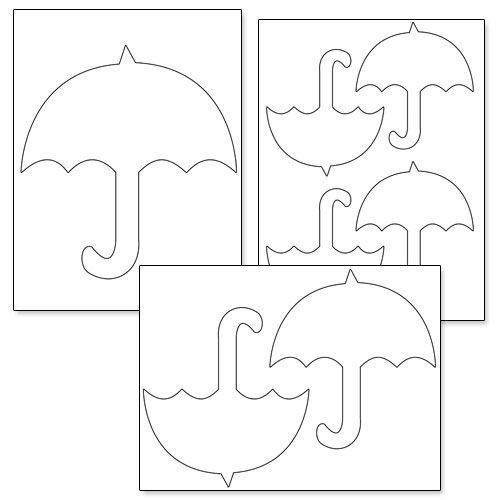 Printable Umbrella Template Printable Treats Umbrella Template