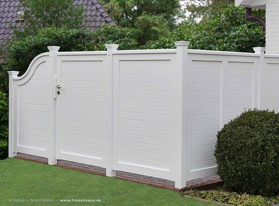 Sichtschutz-Garten-Terrassenwand-Trennwand-Holz-weiss-Holzzaun - sichtschutz garten