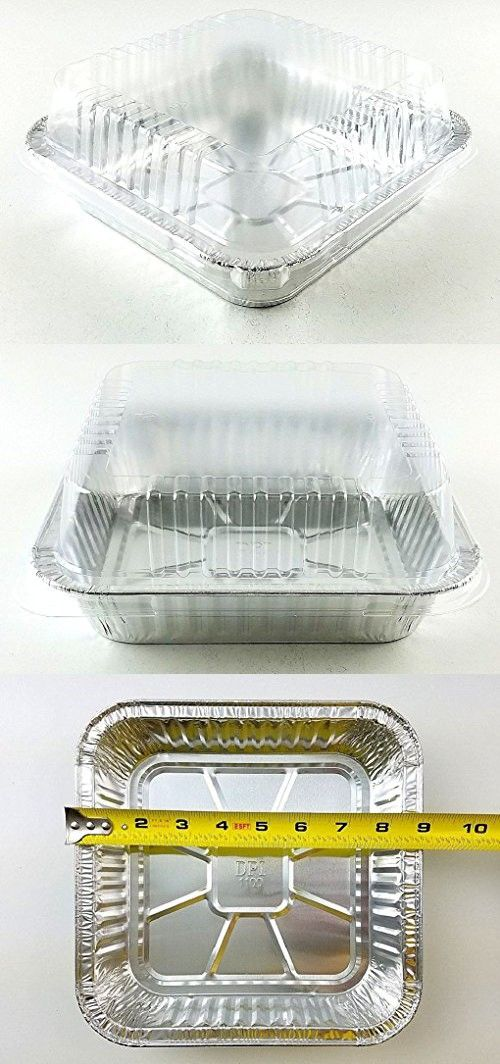 9 X9 Square Cake Aluminum Foil Pan W Clear Lid 50 Sets