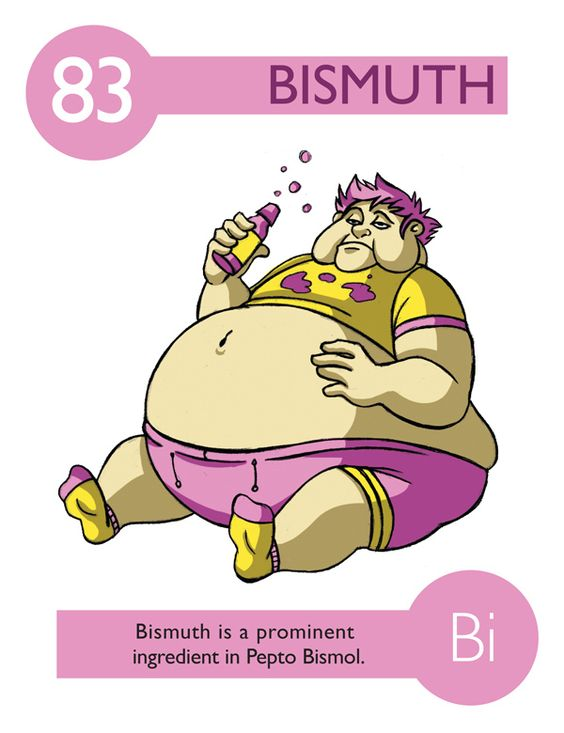 Bismuth periodic table and cartoon on pinterest for 112 periodic table
