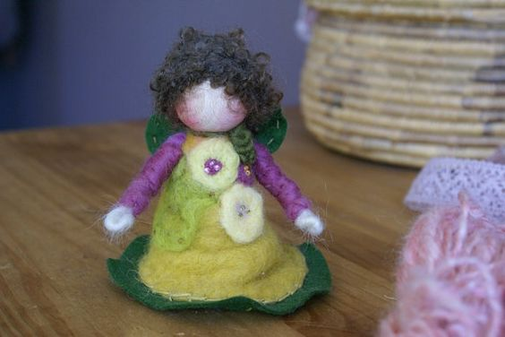 Waldorf Fairy - Waldorf Fairies - Needle Felt Fairy - Fairy - Fairy Doll -  Nature Table - Seasons - Art doll - Summer Fairy