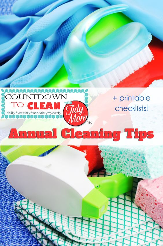 Countdown to Clean.  Annual Cleaning Tips at TidyMom.net  Using this method, you will get your house clean without back-breaking effort.  Remember, the more often you clean, the less build up you will have.: Cleaning Ideas, Cleaning Checklist, Cleaning Tips, House Cleaning, Cleaning Schedule, Cleaning Routine