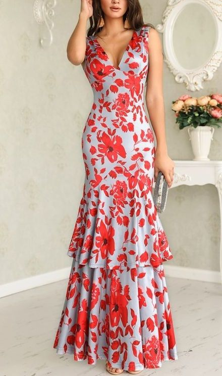 48 Maxi Floral Dresses To Copy Now outfit fashion casualoutfit fashiontrends
