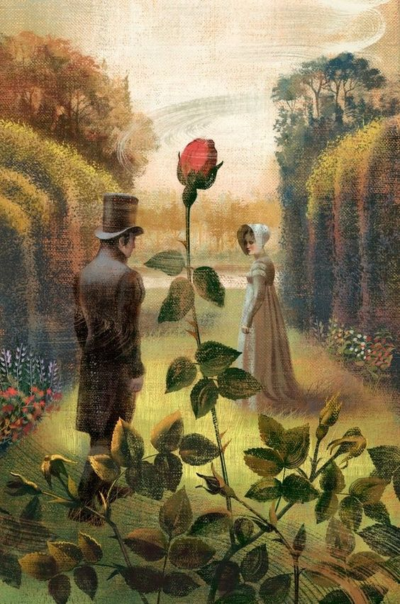 Pride and Prejudice Garden, an art print by Anna and Elena Balbusso Twins - INPRNT