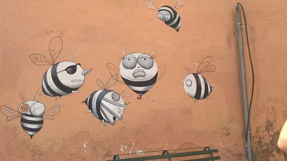 Wall in Kerkira .