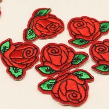 5pcs Cute Colorful Rose Applique Flowers Patch Embroidered Sew Iron on Clothes…