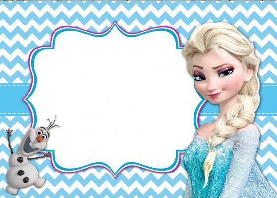 Convite de festa Frozen
