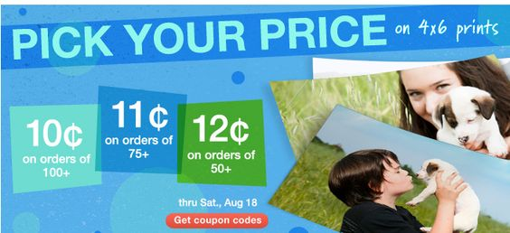 HURRY!  Print those pics you need to scrapbook!  Pick Your Price on 4x6 Prints at Walgreens!