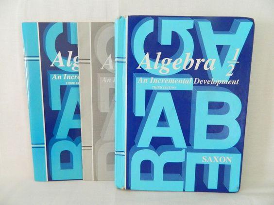 Saxon Math Algebra 1/2 Student, Tests & Key, 3rd Edition Homeschool /School…