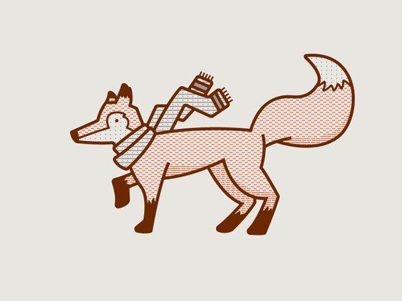 Dribbble - RA Holiday Fox by Ryan Putnam