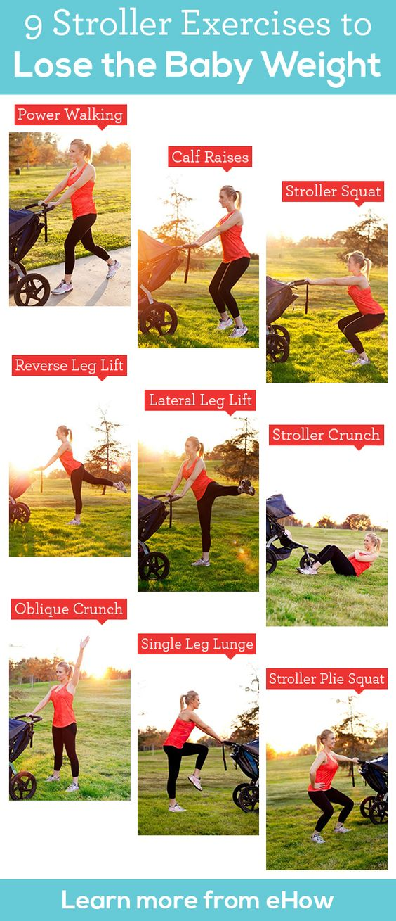 Lose the baby weight with simple stroller exercises. #health