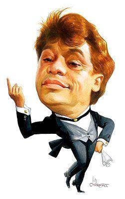 Luis Carreño: Juan Gabriel, caricatura realizada por Luis Carreño.