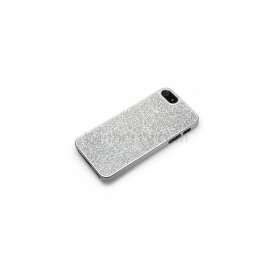 Glitter Slim Hard Case for iPhone 5 - Silver ($38) ❤ liked on Polyvore