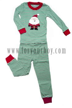 Boys Christmas Striped Pajamas- | Pajamas for boys | Pinterest ...