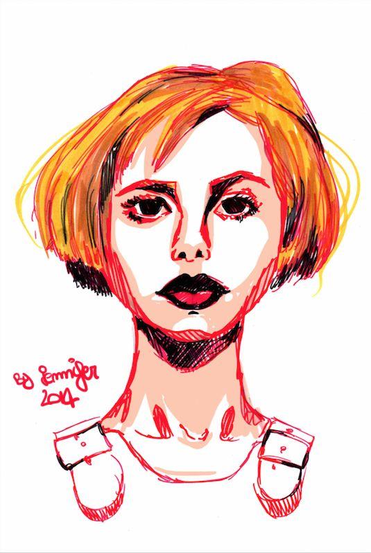 Mix of Portraits by Drako Mallafoglia, via Behance