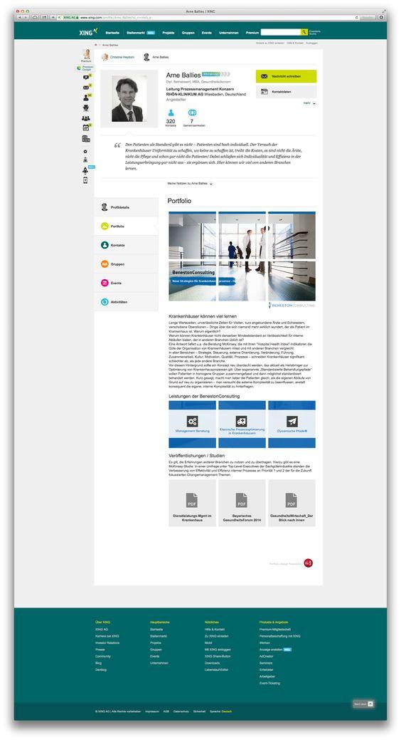 XING Portfolio des Geschäftsführers der BenestonConsulting Arne Ballies. Gestaltung, Konzeption, Grafikdesign und technische Umsetzung. Kunde: BenestonConsulting