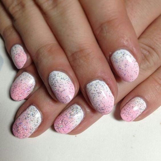 White /pink sparkle