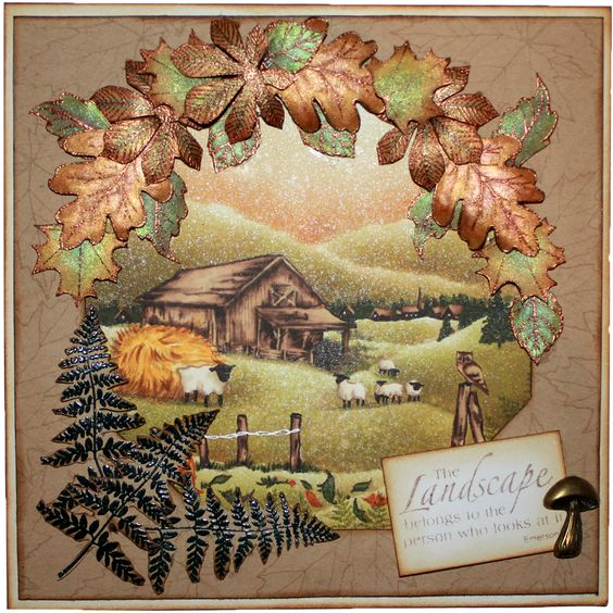 This is the gorgeous new Old Barn designed by Sharon Bennett for Hobby Art. Clear set contains 17 stamps. Overall size of set - 100mm x 260mm approx. All our clear stamps are made with photopolymer resin. This was the Monthly Special for February 2015. This Gorgeous card was made by Sally Dodger: