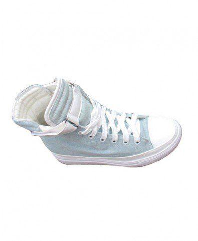 Light Blue High Top Canvas Shoes