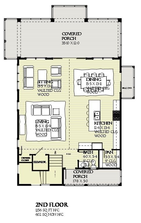 House Plan 1637 00110 Coastal Plan 2 593 Square Feet 4 Bedrooms 2 5 Bathrooms Coastal House Plans Beach House Floor Plans Bedroom Floor Plans