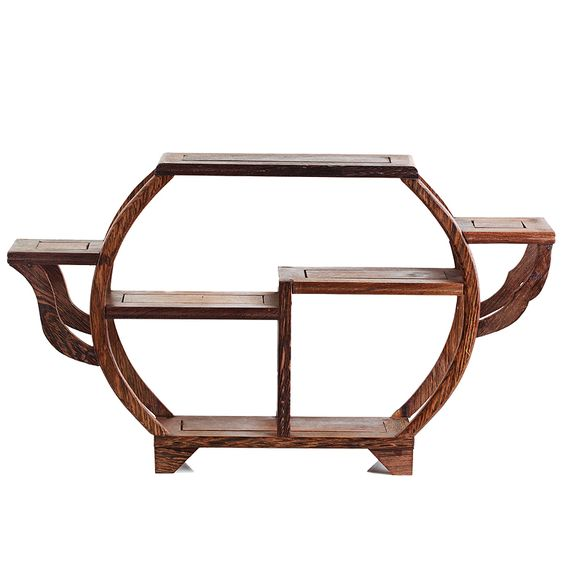 modern Chinese style | Modern chinese style wenge solid wood shelf decoration small ...