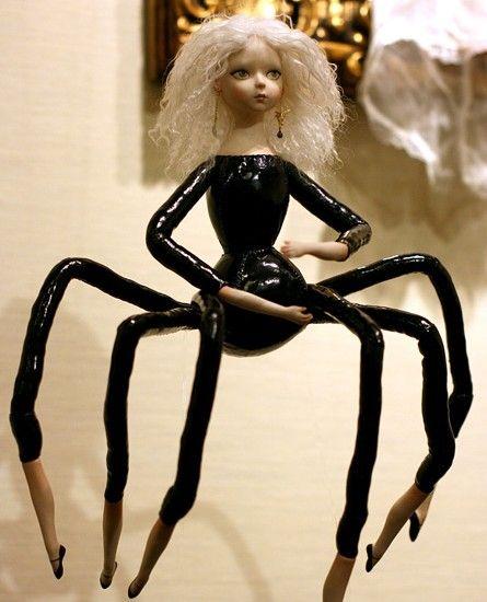 "Creepy! ""UNIQUE UNUSUAL OR INTERESTING: Altered Dolls Roundup"""