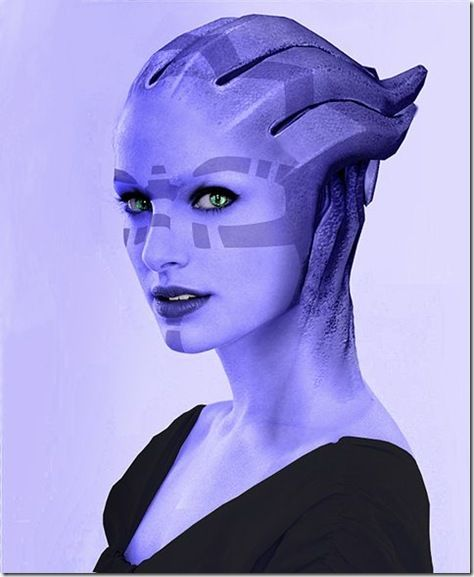 Asari - I can't tell if this is art or cosplay. Also looks a little like Natalie Portman to me.: